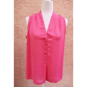 Laundry Shelli Segal | pink fan sleeveless blouse
